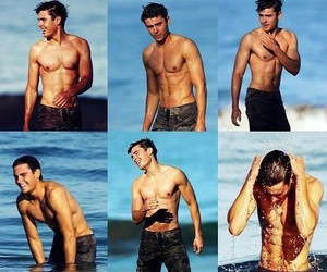 beach, fitness, and zac efron image