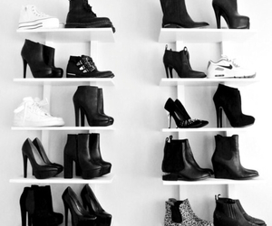 adidas, black and white, and collection image