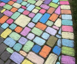 art, backyard, and chalk image