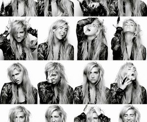 kesha, ke$ha, and black and white image