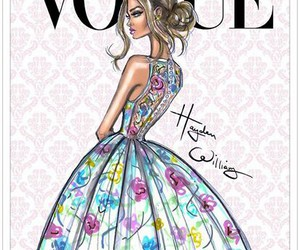 vogue, dress, and model image
