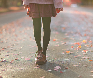fall, shoes, and skirt image