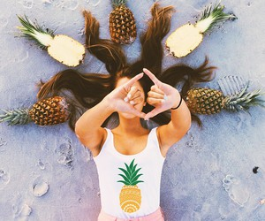 summer, fashion, and pineapple image