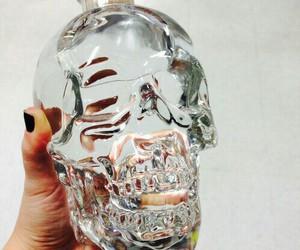 skull, vodka, and bottle image
