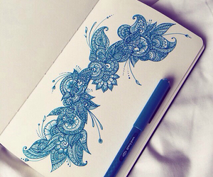 blue, deco, and draw image