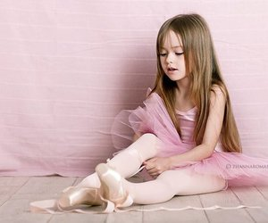 girl, ballet, and pink image
