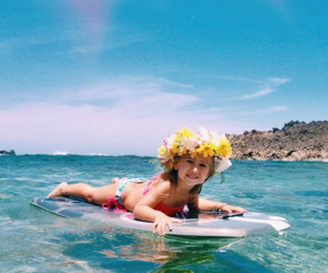 summer, child, and surf image