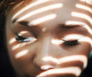 girl, light, and eyes image
