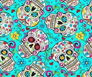 skull, wallpaper, and colorful image
