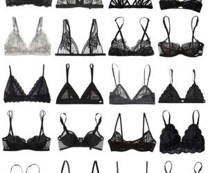 bra, black, and lace image