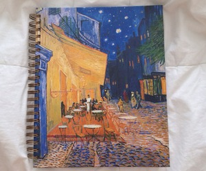 art, notebook, and painting image