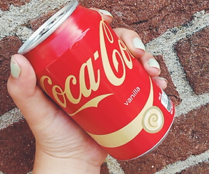 cocacola, red, and vanille image