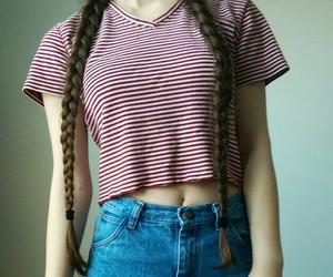 90's, braids, and choker image