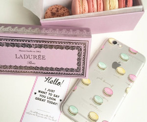 macaroons, iphone, and yeah bunny image