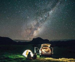 night, stars, and camping image