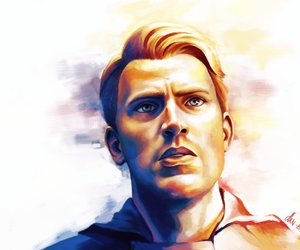 chris evans, drawing, and captain american image