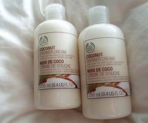 coconut, white, and the body shop image