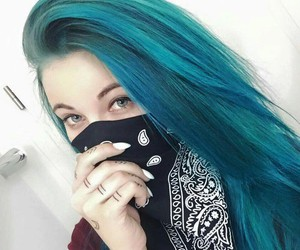 hair, lifewithmelina, and blue image