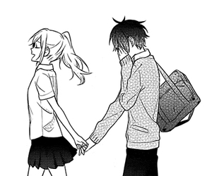 manga, horimiya, and couple image