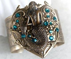 cuff, mermaid, and mystic image