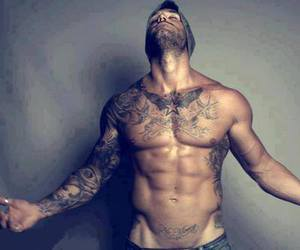 men, tattoo, and sexy image