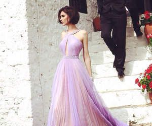 dress, purple, and beauty image