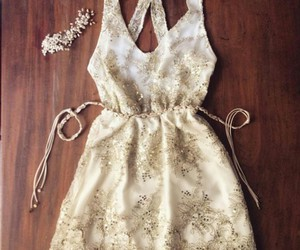 dress, girl, and clothing image