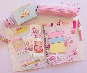 beautiful, pink, and book image