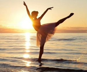 dance, ballet, and beach image