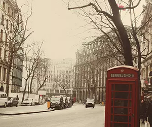 london, telephone, and winter image