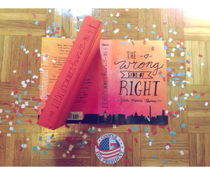 book, confetti, and photography image