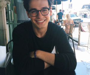 boy, smile, and glasses image