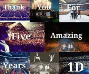d, one direction, and 5 years of one direction image