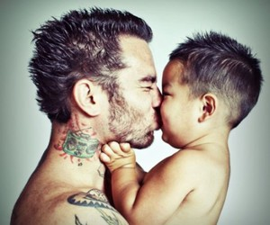 tattoo, baby, and kiss image