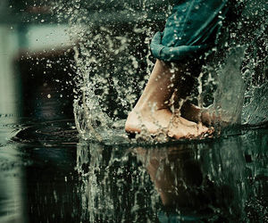 puddle, rain, and water image