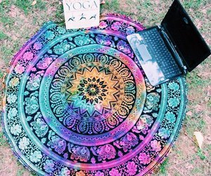 colorful, macbook, and mandala image