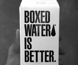 water, boxed water, and box image