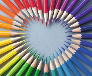 heart and color image