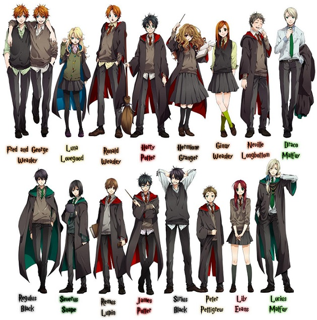 If Harry Potter Were An Anime Series Flicks And Bits