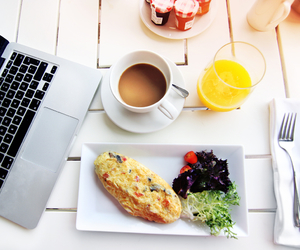 food, breakfast, and FRUiTS image