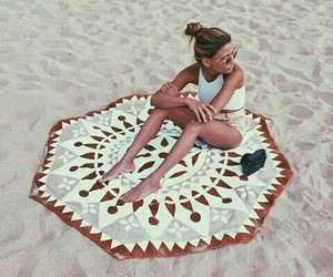 girl, beach, and cool image