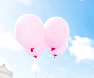 balloon, photography, and pink balloon image