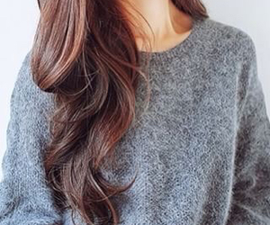 hair, girl, and sweater image