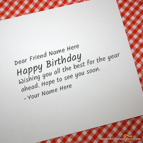 Incredible Write Name On Cool Birthday Card For Any Friend Happy Birthday Funny Birthday Cards Online Fluifree Goldxyz