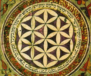art, jewish, and flower of life image