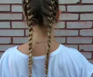 blonde, braid, and grunge image
