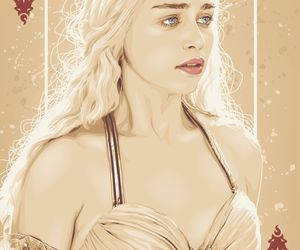 game of thrones, daenerys targaryen, and card image