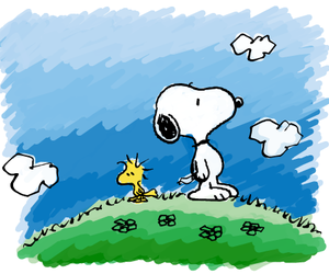 snoopy, cute, and friends image