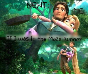 newt, me, and the maze runner image