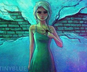 girl, art, and heart image